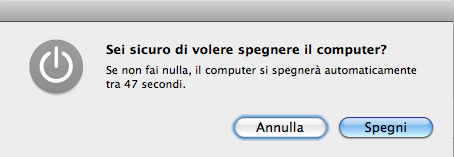 Spegnimento Mac annullabile